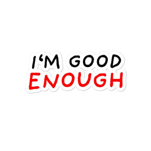 Good Enough | Bubble-free stickers-stickers-Eggenland