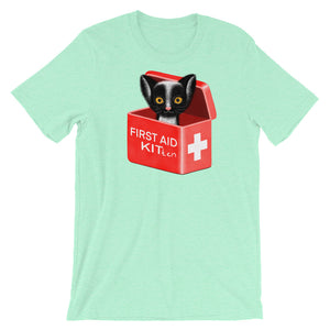 First Aid Kitten | Short-Sleeve Unisex T-Shirt-t-shirts-Heather Mint-S-Eggenland