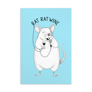 Rat Rat Wine | Blue | Postcard