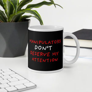 No Attention To Manipulators | Black | Mug-mugs-Eggenland