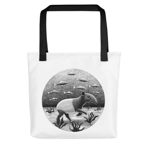 Tapirs Can Walk Underwater | Tote Bag-tote bags-Black-Eggenland