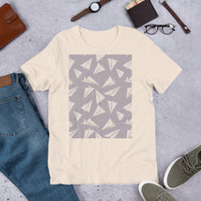 Load image into Gallery viewer, Paper Planes Pattern | Violet | Short-Sleeve Unisex T-Shirt-t-shirts-Eggenland