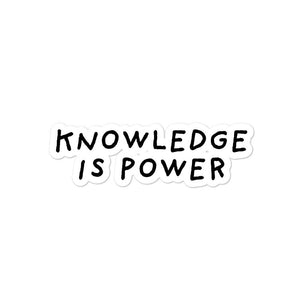 Knowledge Is Power | Bubble-free stickers-stickers-Eggenland