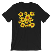 Load image into Gallery viewer, Blooming Flowers | Short-Sleeve Unisex T-Shirt-t-shirts-Black-S-Eggenland