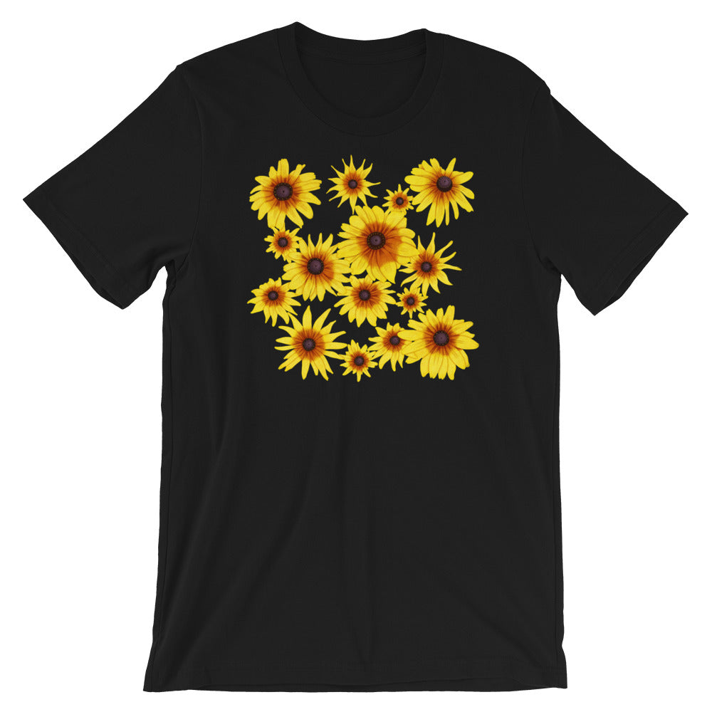 Blooming Flowers | Short-Sleeve Unisex T-Shirt-t-shirts-Black-S-Eggenland