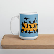 Load image into Gallery viewer, Black Cats Party | Blue | Mug-mugs-15oz-Eggenland