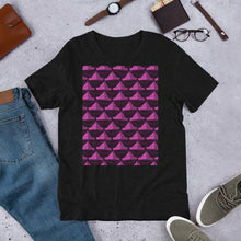 Load image into Gallery viewer, Paper Hats Pattern | Dark Pink | Short-Sleeve Unisex T-Shirt-t-shirts-Eggenland