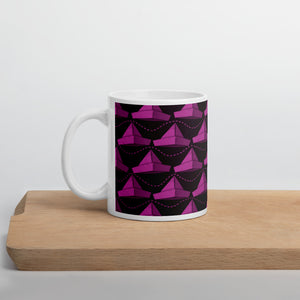 Newspaper Hats Pattern | Pink | Mug-mugs-11oz-Eggenland
