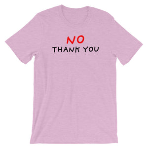 No Thank You | Short-Sleeve Unisex T-Shirt-t-shirts-Heather Prism Lilac-S-Eggenland