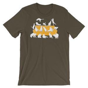 Cats Party | Short-Sleeve Unisex T-Shirt-t-shirts-Army-S-Eggenland
