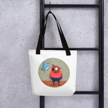 Load image into Gallery viewer, Bear and Butterfly | Tote Bag-tote bags-Eggenland