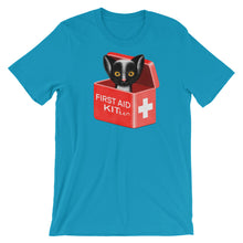 Load image into Gallery viewer, First Aid Kitten | Short-Sleeve Unisex T-Shirt-t-shirts-Aqua-S-Eggenland