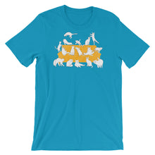 Load image into Gallery viewer, Cats Party | Short-Sleeve Unisex T-Shirt-t-shirts-Aqua-S-Eggenland