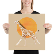 Load image into Gallery viewer, Giraffe and Sun | Cream | Poster-posters-18×18-Eggenland