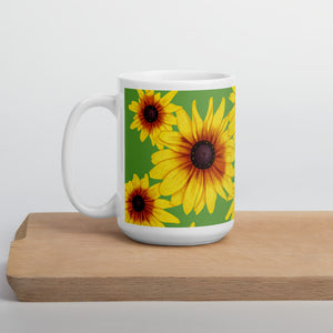 Blooming Flowers | Green | Mug-mugs-15oz-Eggenland