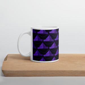 Newspaper Hats Pattern | Violet | Mug-mugs-11oz-Eggenland