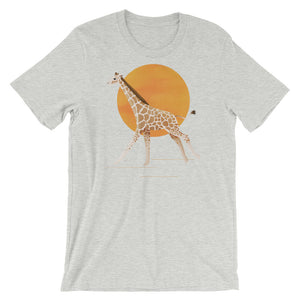 Giraffe and Sun | Short-Sleeve Unisex T-Shirt-t-shirts-Athletic Heather-S-Eggenland