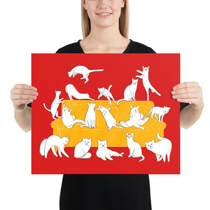 Cats Party | Red | Poster-posters-16×20-Eggenland