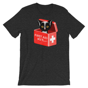First Aid Kitten | Short-Sleeve Unisex T-Shirt-t-shirts-Dark Grey Heather-S-Eggenland