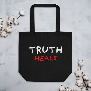 Truth Heals | Eco Tote Bag-tote bags-Black-Eggenland