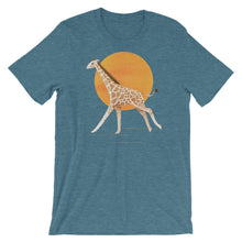 Load image into Gallery viewer, Giraffe and Sun | Short-Sleeve Unisex T-Shirt-t-shirts-Heather Deep Teal-S-Eggenland