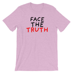 Face the Truth | Short-Sleeve Unisex T-Shirt-t-shirts-Heather Prism Lilac-S-Eggenland