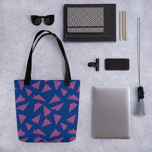 Paper Planes Pattern | Blue and Purple | Tote Bag-tote bags-Eggenland
