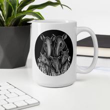 Load image into Gallery viewer, Tapir Family | Black and White Illustration | Mug-mugs-Eggenland