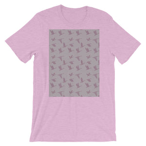 Flying Birds Pattern | Violet | Short-Sleeve Unisex T-Shirt-t-shirts-Heather Prism Lilac-S-Eggenland
