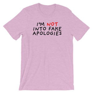 Fake Apologies | Short-Sleeve Unisex T-Shirt-t-shirts-Heather Prism Lilac-S-Eggenland