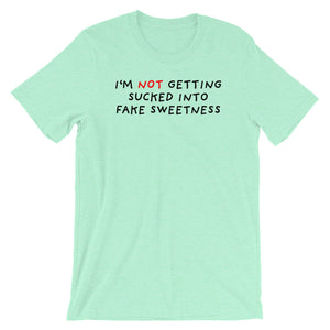 No Fake Sweetness | Short-Sleeve Unisex T-Shirt-t-shirts-Heather Mint-S-Eggenland
