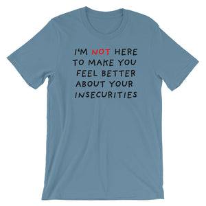 Insecurities | Short-Sleeve Unisex T-Shirt-t-shirts-Steel Blue-S-Eggenland
