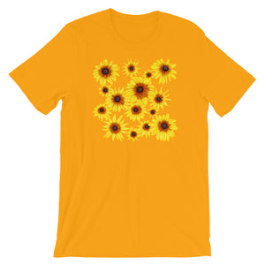 Blooming Flowers | Short-Sleeve Unisex T-Shirt-t-shirts-Gold-S-Eggenland