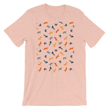 Load image into Gallery viewer, Funky Cats Pattern | Short-Sleeve Unisex T-Shirt-t-shirts-Heather Prism Peach-S-Eggenland