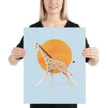 Load image into Gallery viewer, Giraffe and Sun | Blue | Poster-posters-16×20-Eggenland