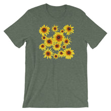 Load image into Gallery viewer, Blooming Flowers | Short-Sleeve Unisex T-Shirt-t-shirts-Heather Forest-S-Eggenland