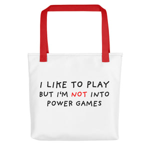 Power Games | Tote Bag-tote bags-Red-Eggenland