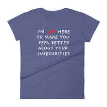 Load image into Gallery viewer, Insecurities | Women's Short-Sleeve T-Shirt-t-shirts-Heather Blue-S-Eggenland