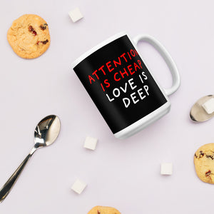 Attention Is Cheap | Black | Mug-mugs-Eggenland