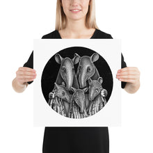 Load image into Gallery viewer, Tapir Family | Illustration | Poster-posters-16×16-Eggenland