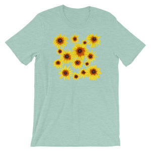 Blooming Flowers | Short-Sleeve Unisex T-Shirt-t-shirts-Heather Prism Dusty Blue-S-Eggenland