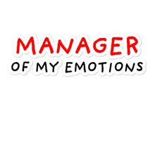 Load image into Gallery viewer, Manager of My Emotions | Bubble-free stickers-stickers-Eggenland