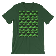 Load image into Gallery viewer, Paper Hats Pattern | Green | Short-Sleeve Unisex T-Shirt-t-shirts-Forest-S-Eggenland