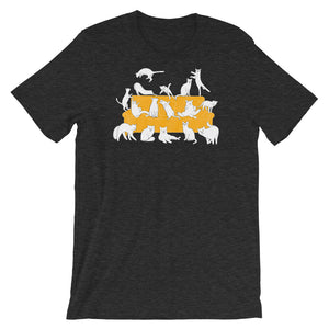 Cats Party | Short-Sleeve Unisex T-Shirt-t-shirts-Dark Grey Heather-S-Eggenland