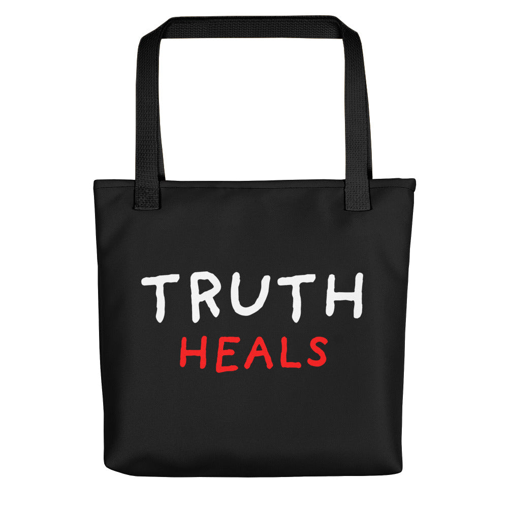 Truth Heals | Black | Tote Bag-tote bags-Black-Eggenland