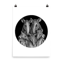 Load image into Gallery viewer, Tapir Family | Illustration | Poster-posters-Eggenland
