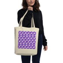 Load image into Gallery viewer, Newspaper Hats Pattern | Violet | Eco Tote Bag-tote bags-Eggenland