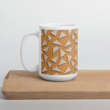 Load image into Gallery viewer, Paper Planes Pattern | Beige | Mug-mugs-15oz-Eggenland