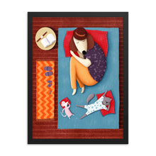 Load image into Gallery viewer, Good Night Sleep Tight | Illustration | Framed Posters-framed posters-Eggenland