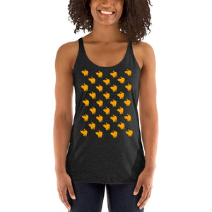 Cute Yellow Cat Pattern | Women's Racerback Tank-tank tops-Eggenland